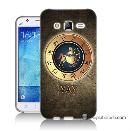 Teknomeg Samsung Galaxy J7 Kılıf Kapak Yay Burcu Baskılı Silikon