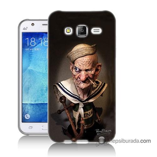 Teknomeg Samsung Galaxy J7 Kılıf Kapak Temel Reis Baskılı Silikon