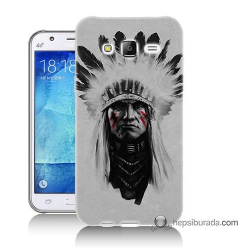 Teknomeg Samsung Galaxy J7 Kılıf Kapak Geronimo Baskılı Silikon