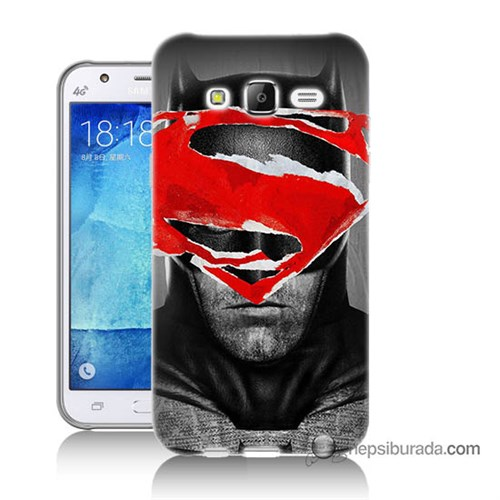 Teknomeg Samsung Galaxy J7 Kapak Kılıf Batman Vs Superman Baskılı Silikon
