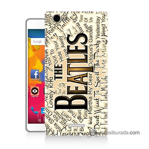 Teknomeg Casper Via M1 Kılıf Kapak The Beatles Baskılı Silikon
