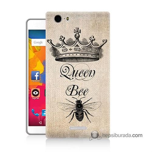 Teknomeg Casper Via M1 Kılıf Kapak Queen Bee Baskılı Silikon
