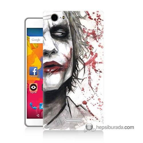 Teknomeg Casper Via M1 Kapak Kılıf Kanlı Joker Baskılı Silikon