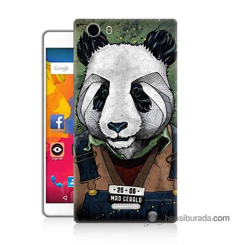Teknomeg Casper Via M1 Kapak Kılıf İşçi Panda Baskılı Silikon