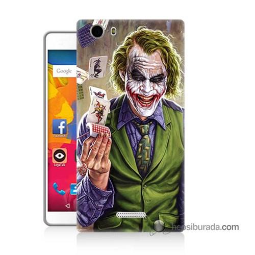 Teknomeg Casper Via M1 Kılıf Kapak Kartlı Joker Baskılı Silikon