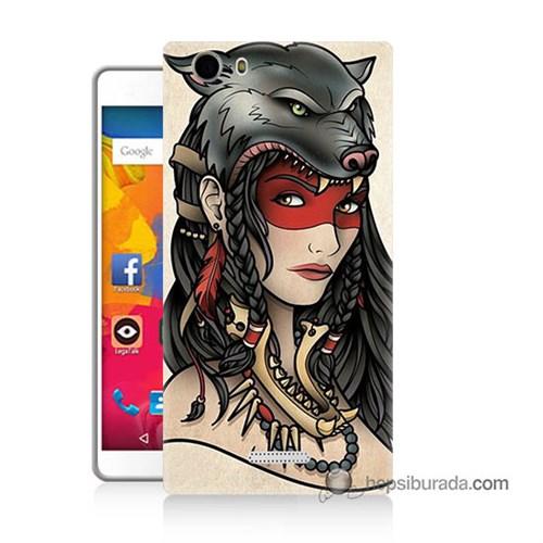 Teknomeg Casper Via M1 Kapak Kılıf Pocahontas Baskılı Silikon
