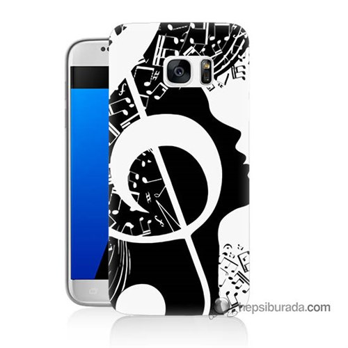 Teknomeg Samsung Galaxy S7 Kapak Kılıf Notalar Baskılı Silikon