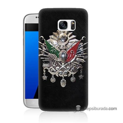 Teknomeg Samsung Galaxy S7 Kapak Kılıf Osmanlı Baskılı Silikon