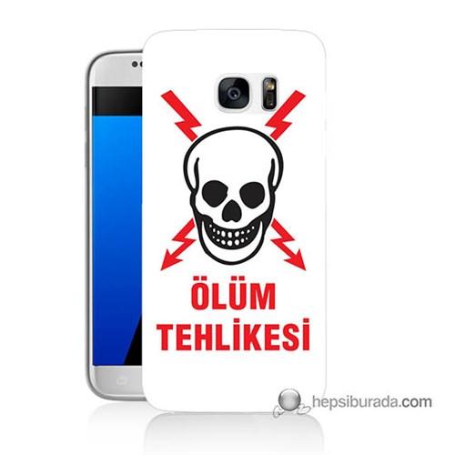 Teknomeg Samsung Galaxy S7 Kapak Kılıf Ölüm Tehlikesi Baskılı Silikon