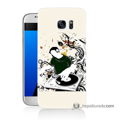 Teknomeg Samsung Galaxy S7 Kılıf Kapak Disc Jokey Baskılı Silikon