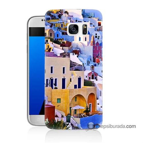 Teknomeg Samsung Galaxy S7 Kılıf Kapak İbiza Baskılı Silikon