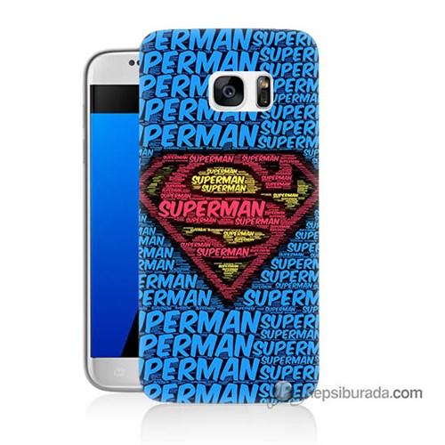 Teknomeg Samsung Galaxy S7 Kapak Kılıf Süpermen Baskılı Silikon