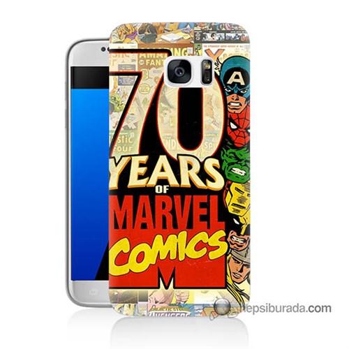 Teknomeg Samsung Galaxy S7 Kılıf Kapak Marvel Karakterleri Baskılı Silikon