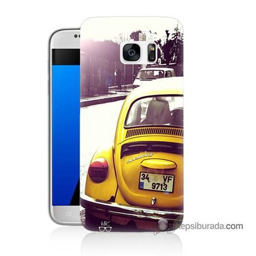 Teknomeg Samsung Galaxy S7 Kılıf Kapak Volkswagen Baskılı Silikon