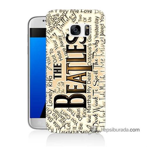 Teknomeg Samsung Galaxy S7 Kılıf Kapak The Beatles Baskılı Silikon