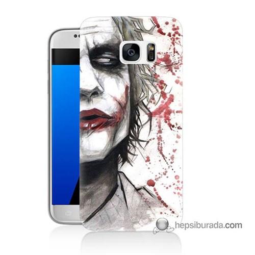 Teknomeg Samsung Galaxy S7 Kapak Kılıf Kanlı Joker Baskılı Silikon