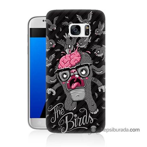 Teknomeg Samsung Galaxy S7 Kılıf Kapak The Birds Baskılı Silikon