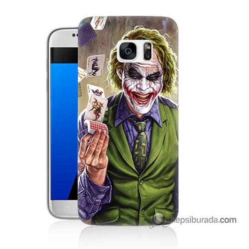 Teknomeg Samsung Galaxy S7 Kılıf Kapak Kartlı Joker Baskılı Silikon