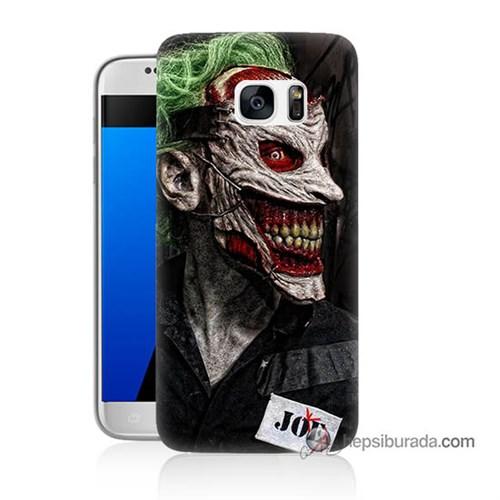 Teknomeg Samsung Galaxy S7 Kapak Kılıf Joker Joe Baskılı Silikon