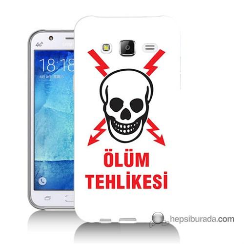 Teknomeg Samsung Galaxy J5 Kapak Kılıf Ölüm Tehlikesi Baskılı Silikon