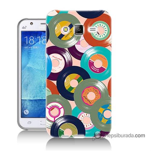 Teknomeg Samsung Galaxy J5 Kapak Kılıf Renkli Plaklar Baskılı Silikon