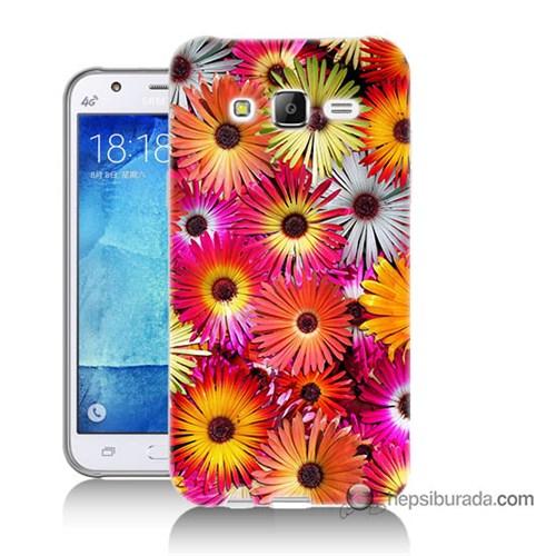 Teknomeg Samsung Galaxy J5 Kılıf Kapak Kasımpatı Baskılı Silikon