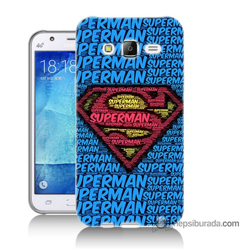 Teknomeg Samsung Galaxy J5 Kapak Kılıf Süpermen Baskılı Silikon