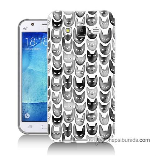 Teknomeg Samsung Galaxy J5 Kapak Kılıf Kediler Baskılı Silikon