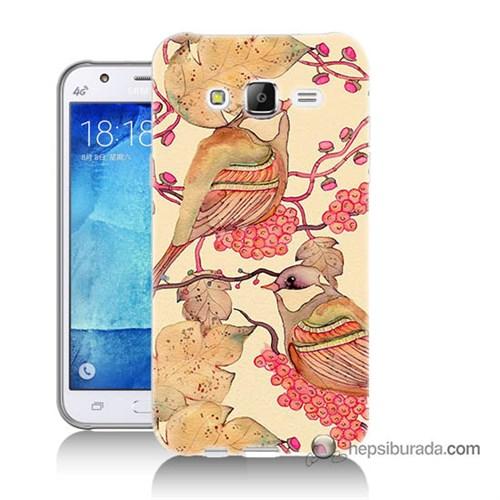 Teknomeg Samsung Galaxy J5 Kılıf Kapak Kuşlar Baskılı Silikon