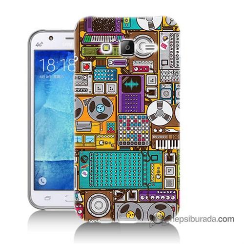 Teknomeg Samsung Galaxy J5 Kılıf Kapak Teknoloji Baskılı Silikon