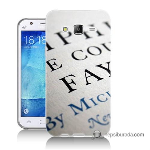 Teknomeg Samsung Galaxy J5 Kapak Kılıf Yazılar Baskılı Silikon