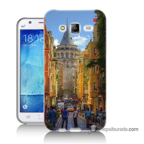 Teknomeg Samsung Galaxy J5 Kapak Kılıf Galata Kulesi Baskılı Silikon