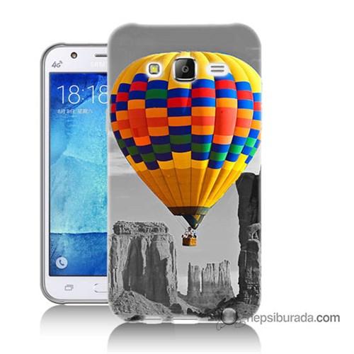 Teknomeg Samsung Galaxy J5 Kılıf Kapak Renkli Uçan Balon Baskılı Silikon
