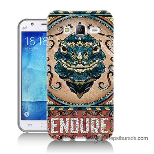 Teknomeg Samsung Galaxy J5 Kılıf Kapak Endure Baskılı Silikon