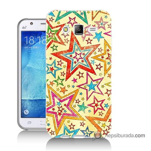 Teknomeg Samsung Galaxy J5 Kılıf Kapak Yıldızlar Baskılı Silikon