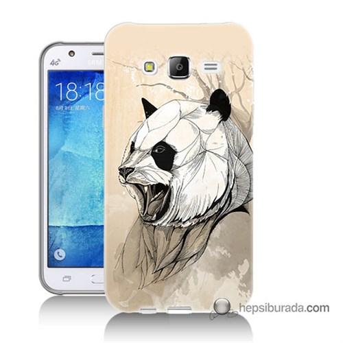 Teknomeg Samsung Galaxy J5 Kapak Kılıf Kavgacı Panda Baskılı Silikon