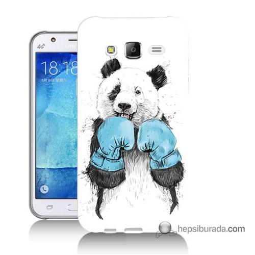 Teknomeg Samsung Galaxy J5 Kılıf Kapak Boksör Panda Baskılı Silikon