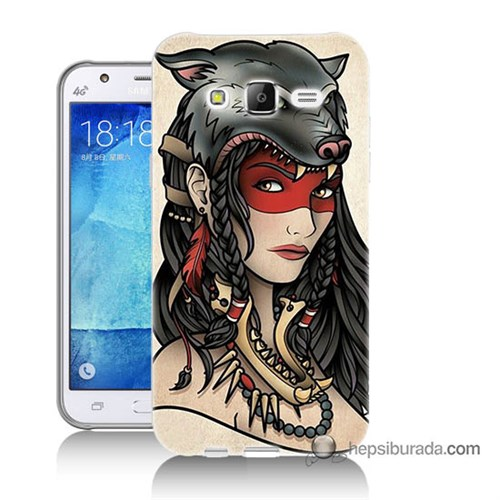 Teknomeg Samsung Galaxy J5 Kapak Kılıf Pocahontas Baskılı Silikon