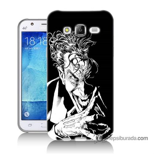 Teknomeg Samsung Galaxy J7 Kapak Kılıf Gülen Joker Baskılı Silikon
