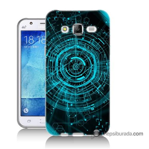 Teknomeg Samsung Galaxy J7 Kapak Kılıf Asit Baskılı Silikon
