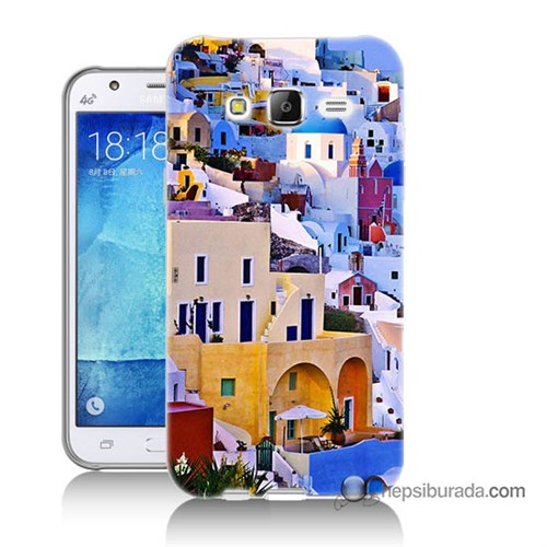 Teknomeg Samsung Galaxy J7 Kılıf Kapak İbiza Baskılı Silikon