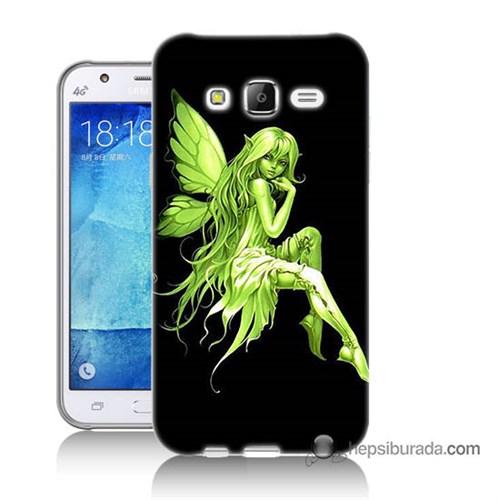 Teknomeg Samsung Galaxy J7 Kapak Kılıf Peri Kızı Baskılı Silikon