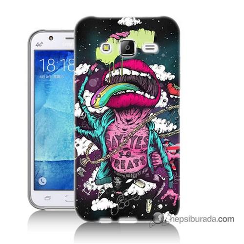 Teknomeg Samsung Galaxy J7 Kapak Kılıf Roling Stones Baskılı Silikon