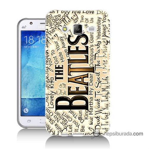 Teknomeg Samsung Galaxy J7 Kılıf Kapak The Beatles Baskılı Silikon