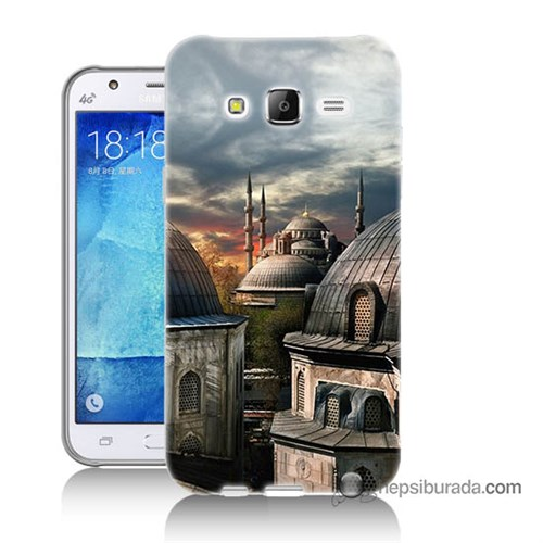 Teknomeg Samsung Galaxy J7 Kapak Kılıf Cami Baskılı Silikon