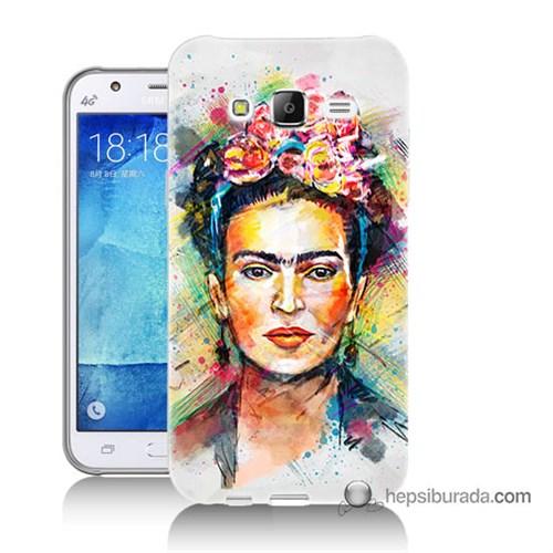 Teknomeg Samsung Galaxy J7 Kapak Kılıf Frida Baskılı Silikon