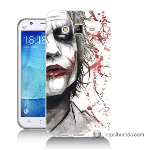 Teknomeg Samsung Galaxy J7 Kapak Kılıf Kanlı Joker Baskılı Silikon