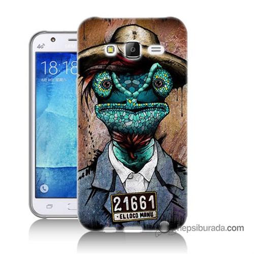 Teknomeg Samsung Galaxy J7 Kılıf Kapak İguana Adam Baskılı Silikon