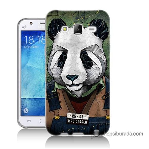 Teknomeg Samsung Galaxy J7 Kapak Kılıf İşçi Panda Baskılı Silikon