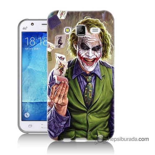 Teknomeg Samsung Galaxy J7 Kılıf Kapak Kartlı Joker Baskılı Silikon